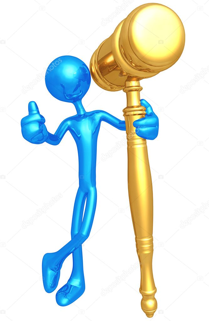 Golden Gavel — Stock fotografie #7963862