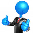 3D Character Businessman Dressed For Success — Stock Photo
