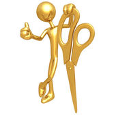 Gold Scissors — Stock Photo