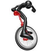 Unicycling — Stock Photo