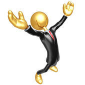 Gold Guy Businessman Success — Stock Photo