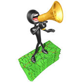 3D Character With Road Maps — Stock Photo