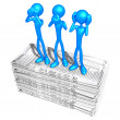 Foto Stock: 3D Characters With Tax Forms