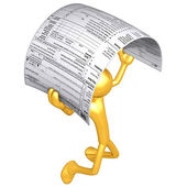 税窗体的黄金人 — 图库照片