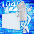 1040 Tax Man — Stock Photo