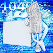1040 Tax Man — Stock Photo