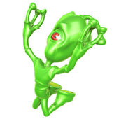 3D Alien — Stock Photo