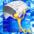 Gold Guy With Tax Form - Foto de Stock