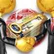 Gold Guys Business Handshake - Stockfoto