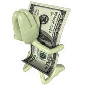 Money Praying — Stock Photo