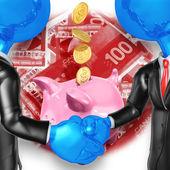Savings Handshake — Stock Photo
