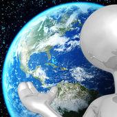 Earth Presenter — Stock Photo