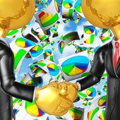 Business Report Handshake — Stock Photo