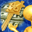 Stock Photo: Gold Guy Realty Concept