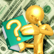 Gold Guy With A Question — Stock Photo