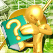 Gold Guy With A Question — Stock Photo #8379361