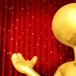 Stock Photo: Gold Guy Theater Presenter