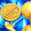 Golden Keys Presenter - Stock Photo