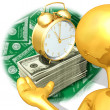 Gold Guy Time Presenter — Stock Photo #8394573