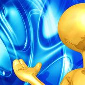 золотой парень ведущий — Стоковое фото