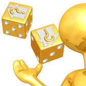 Gold Guy Realty Risk Presenter — Stock Photo