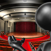 劇場の司会者 — ストック写真