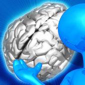 演示者的大脑 — 图库照片