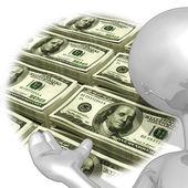 Geld-moderatorin — Stockfoto