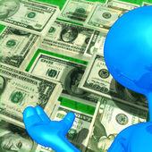 Pengar presentatör — Stockfoto