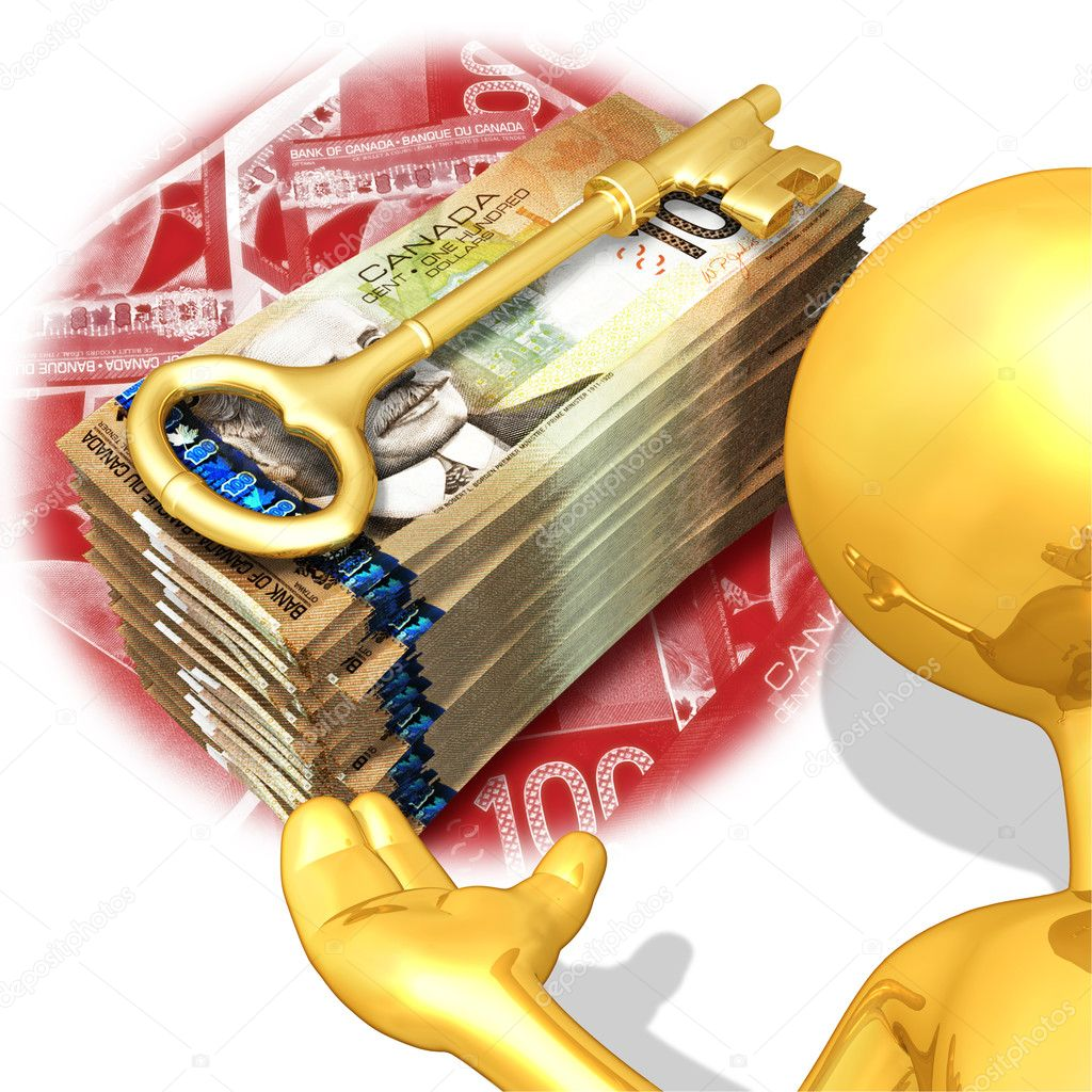 Gold Guy Wealth Key Presenter  Stock Photo #8394306