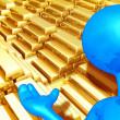 Gold Bars — Stock Photo #8409052