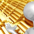 Gold Bars — Stock Photo #8409067