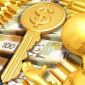 Klucz do bogactwa — Zdjęcie stockowe
