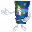 3d World Map — Stock Photo #8655223