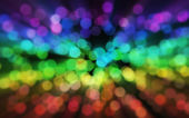 Blurred rainbow sparkles — Stock Photo