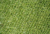 All weather football field syntethic green grass — Stock Photo