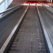 Modern passenger conveyors, inclined moving walk — Stock Photo