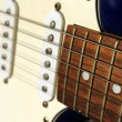 Close up of an old style electric guitar — Stock Photo