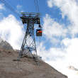 Cable lift, italian mountain landscape, Dolomiti — Stock Photo