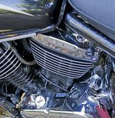 Chromed engine — Stock Photo