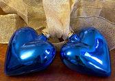 Dos corazones azules — Foto de Stock