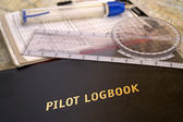 Aviator logbook — Stock Photo