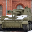 Self propelled cannon - Foto Stock