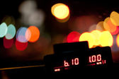 Taximeter in the night — Stock Photo