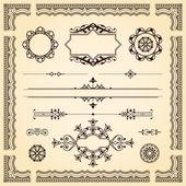 Caligraphic_design_elements_001 — Stock Vector