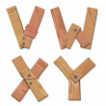 Rustic Wooden Font Alphabet Letters VWXY — Stock Vector #8379426