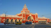 View to the beautiful building of the railway station — Stock Photo