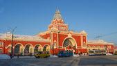 Met het oog op het prachtige gebouw van het station — Stockfoto