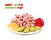 Salad with squid — Stock Photo