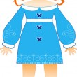Vector doll — Stock Vector #8431351